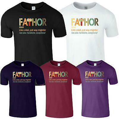 Fathers Day Mens T-Shirt Like A Dad Cooler Just Way Mightier Hands Fathor Tshirt
