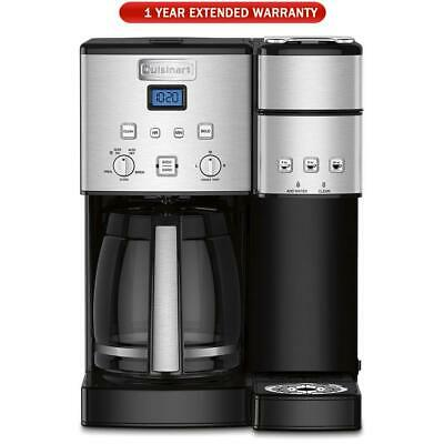 Cuisinart 12 Cup Coffee Maker Single-Serve Brewer Refurbished 1 Year Extended
