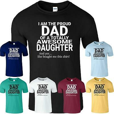 Proud DAD Of An Awesome DAUGHTER Mens Funny TShirt Novelty Fathers Day Gift