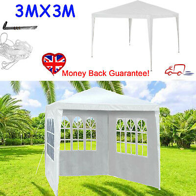 White Party Tent Outdoor Garden Gazebo Marquee Canopy Awning With Full Sidewall