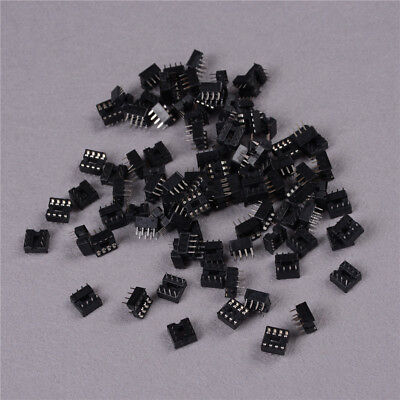 100PCS 8 Pin DIP Pitch Integrated Circuit IC Sockets Adaptor Solder Type   GQ