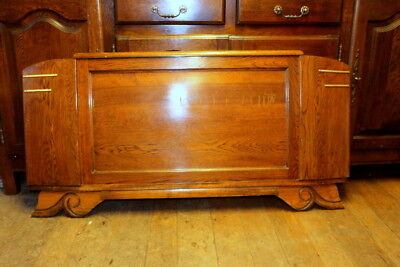 Antique Vintage French  Solid Oak Double Bed Frame for SALE