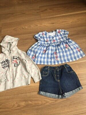 Girls 2-3 Bundle Outfit Summer Denim Dress By George VGC