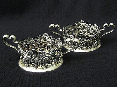 Antique Unger Bros. Pair of Ornate Sterling Cup Holders 1872 -1914 .Vtg