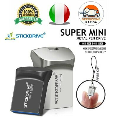 Pendrive Usb 3.0 Super Mini Metallo 16gb 32gb 64gb 128gb Chiavetta STICKDRIVE