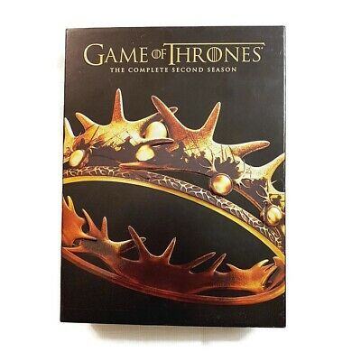 Game of Thrones: The Complete Second Season (DVD, 5-Disc Set) Box Set