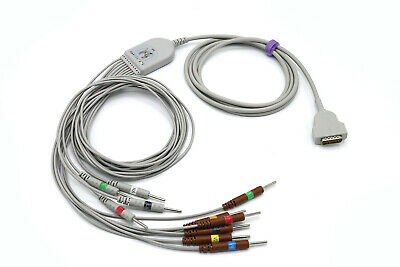 GE Marquette MAC 1600 MAC 2000 EKG Cable 10 Leads Needle AHA - Same Day Shipping