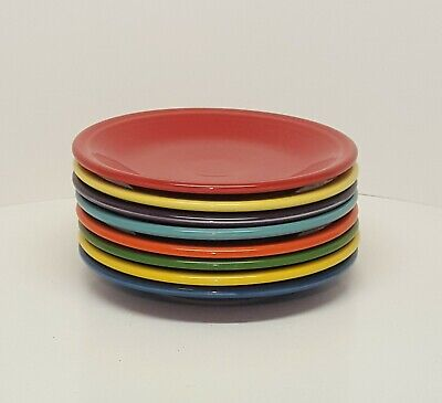Fiestaware mixed colors Salad Plate Lot of 8 Fiesta 7.25 inch small plate 8C3M2
