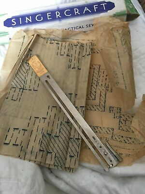 VINTAGE SINGER SEWING CO. MACHINE SINGERCRAFT GUIDE,Pattern,Manual