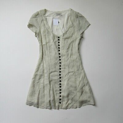 8945eb7081a9 NWT Urban Outfitters UO Mindy in Ivory Corset Back Button Front Mini Dress S