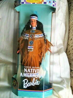 Native American  Fourth 4th Edition Barbie  Dolls of the World MINT NRFB