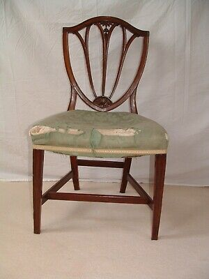 Georgian , single Geo.3rd. Hepplewhite period  mahogany chair