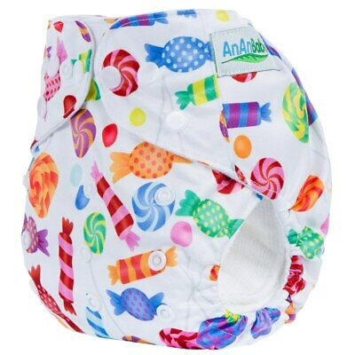 Reusable Washable Baby Cloth Diaper One Size Fit All Adjustable Suede Inner P