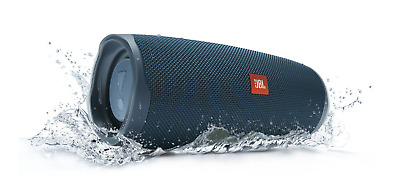 NEW JBL Charge 4 Portable Bluetooth Speaker (Blue) USB-C Rechargeable FAST SHIP