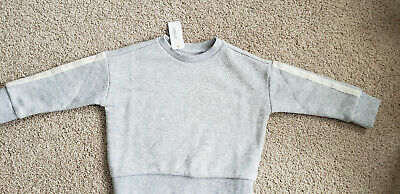 New Girls GYMBOREE GRAY LONG SLEEVE TOP SHIRT SPARKLE SHIMMER size 3 T