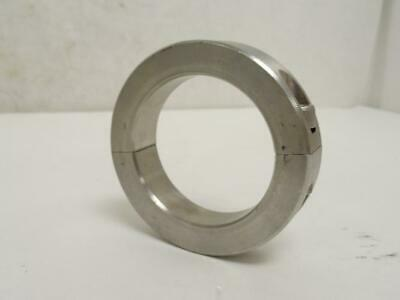 """177250 New-No Box, MFG- 2C-237-S Clamping Collar, Two Piece, SS, 2-3/8"""" ID"""
