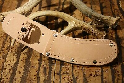 """THICK Leather""""GREEN RIVER/OLD-HICKORY/CASE"""" skinning knife sheath-USA"""
