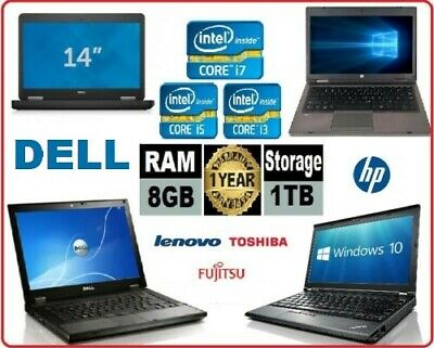 CHEAP HP DELL LENOVO LAPTOP CORE i5 / i3 4GB/8GB RAM 500GB HDD Wi-Fi WINDOWS 10