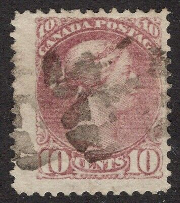 CANADA  #40a 10c pale magenta  12P   JUMBO SMALL QUEEN ISSUE  1880 FINE+