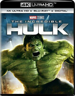 The Incredible Hulk (4K UHD + Blu-Ray, 2008) -- No Digital Copy