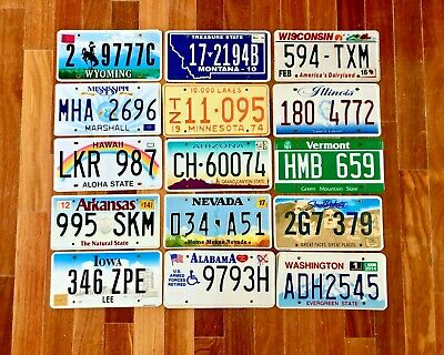 10 Craft Condition Licence Plates Including a New Mexico and a New York Plate