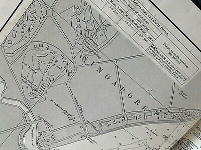 Giant Map Of Singapore Harbour Eastern Roads Pub 1967