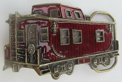 Collectible 1979 Red Caboose Belt Buckle - The Great American Buckle Co. Chicago