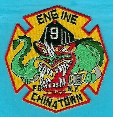 New York City Fire Department Engine 9 Company Patch ~ Chinatown ~ Manhattan
