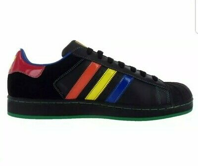 Details about ADIDAS Originals Superstar 2 CB Leather shoes 13 NEW rainbow shell toe sneakers