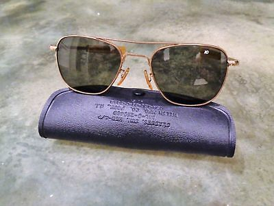 Vintage AO American Optical Aviator Bayonet 1/10 12K GF Gold Filled Sunglasses