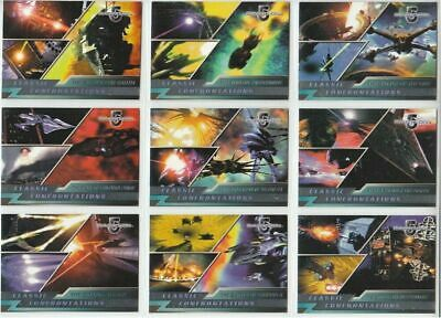 Babylon 5 - Classic Confrontations - Complete 9 Card Chase SET - NM