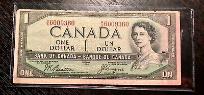 CANADA 1954 $1 DEVIL FACE Beattie-Coyne P/A Fine