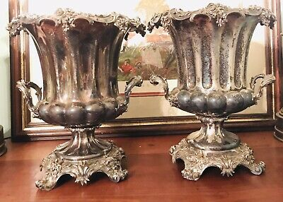 CHRISTOFLE - Pair Of Extremely Rare Stamped / Marked Silver Plated Wine Coolers