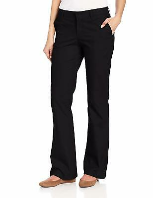Dickies Women's Relaxed Fit Straight Leg Twill Pant, Black, 18 Short