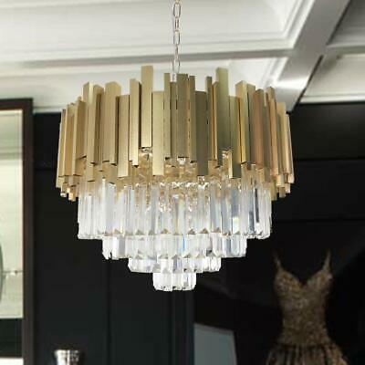 Modern Crystal Chandelier Gold Plated Luxury Pendant Round Chandeliers Ceiling