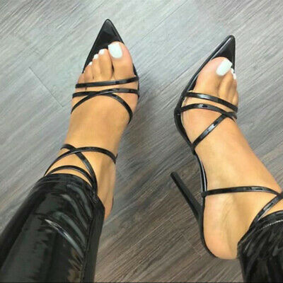 Women's Sexy Strappy Pointed-toe Stiletto Slim High Heels Pumps Shoes 4Colors R5