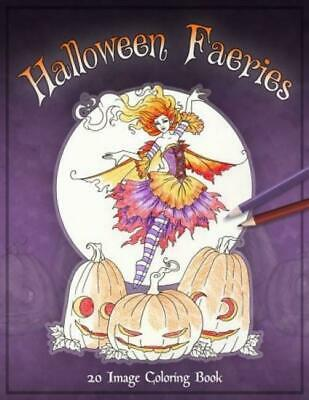 NEW Halloween Faeries Coloring Book By Amy Brown Fantasy Fairys Adult Colouring
