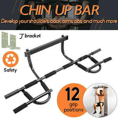 Gym Doorway Portable Chin Up Bar Chinup Pullup Exercise Door Station Training AU