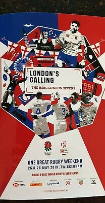 HSBC LONDON 7S RUGBY UNION PROGRAMME 25th and 26th May 2019 TWICKENHAM!