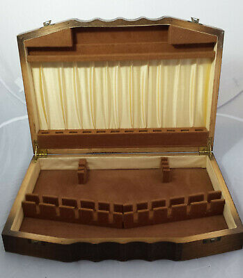 Art Deco c1930s oak cutlery canteen /cutlery box - for 6 settings + carvers