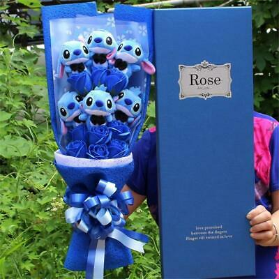 Stitch Bouquet Artificial Lovely Cartoon Plush Toys Stitch For Valentine's Day