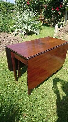 Antique Mahogany Drop Leaf Dining Table