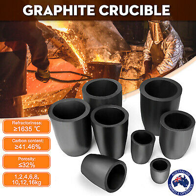 Graphite Furnace Casting Foundry Crucible Copper Metal Melting Bowl Tool 1-16kg