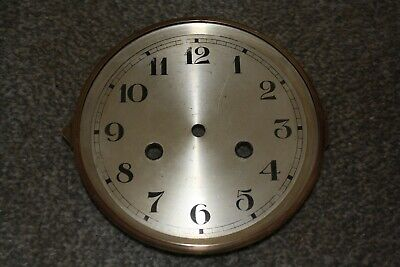 "Vintage 6"" Clock face/dial with hinged brass bezel glass parts/spares/repairs"