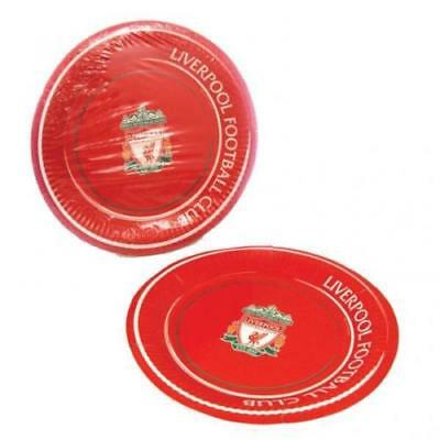 Official Liverpool Football Club Party Plates (8 pack) 1st Class Post