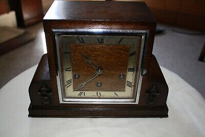 Vintage Art Deco Westminster Chime Mantel Clock - Cleaned and Overhauled