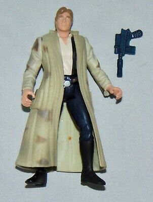 """Star Wars Power Of The Force 3.75"""" Endor Han Solo Figure Used Complete POTF"""