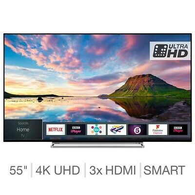 Toshiba 55U5863DB 55 Inch 4K Ultra HD Smart TV With HDR And Freeview Play Wifi