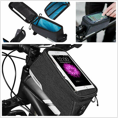 ⭐⭐4 COLOR ⭐⭐ROSWHEEL BICYCLE BAGS CYCLING MIRACLE BIKE PHONE BAGS FRAME HOLDER