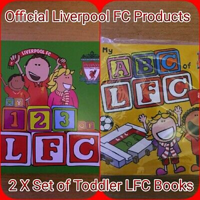 Official Liverpool Football Club LFC Little Liver ABC/123 Learning Books New